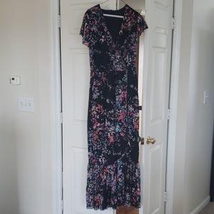 NWT APT 9 Black Floral Summer Dress
